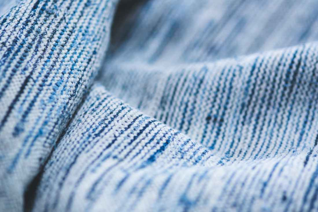 close up blue textile background